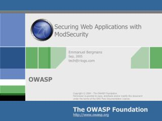 Securing Web Applications with ModSecurity