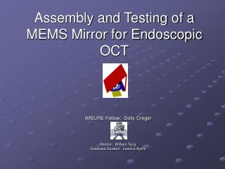 Assembly and Testing of a MEMS Mirror for Endoscopic OCT