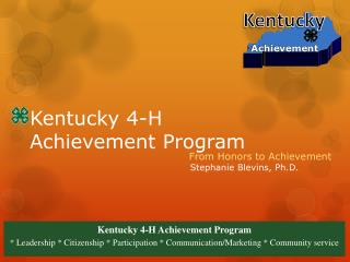 Kentucky 4-H Achievement Program
