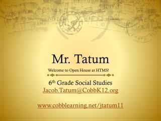 Mr. Tatum