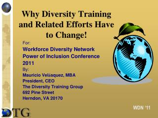 Why Diversity Training and Related Efforts Have to Change!