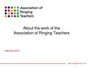 About the work of the Association of Ringing Teachers