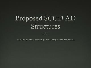 Proposed SCCD AD Structures