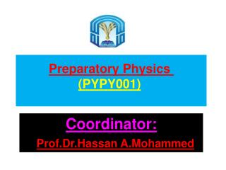 Preparatory  Physics  (PYPY001 )