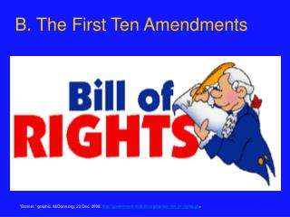 B. The First Ten Amendments
