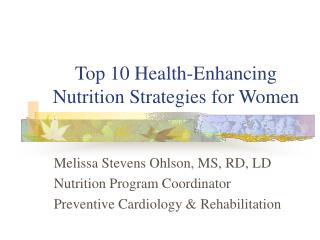 Top 10 Health-Enhancing Nutrition Strategies for Women