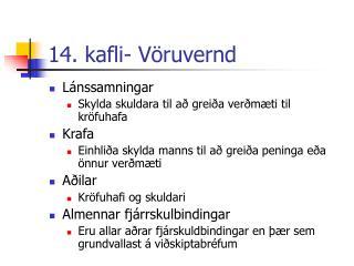 14. kafli- Vöruvernd