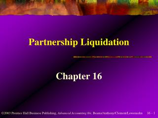 Partnership Liquidation