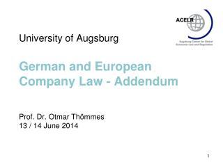Draft  bill on German International Company  Law 2008