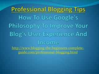 Professional Blogging Tips