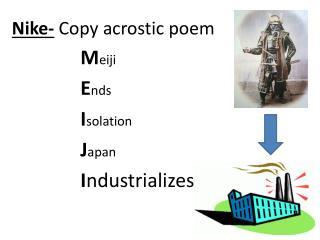 Nike-  Copy acrostic poem