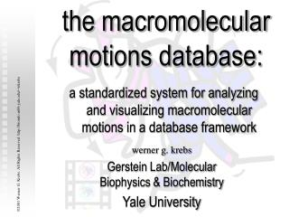 The macromolecular motions database: