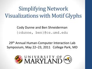 Simplifying Network Visualizations with Motif Glyphs