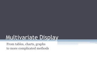 Multivariate Display