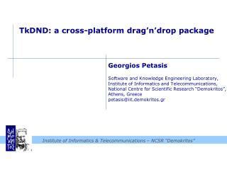 TkDND : a cross-platform  drag'n'drop  package