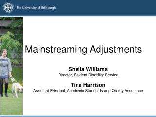 Mainstreaming Adjustments