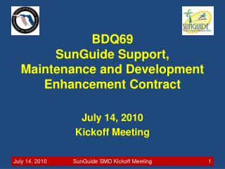 BDQ69 SunGuide Support, Maintenance and Development Enhancement Contract