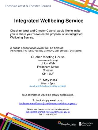 Integrated Wellbeing Service