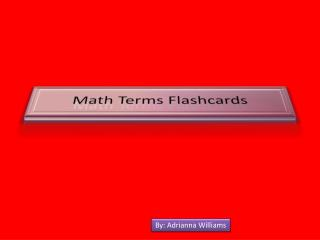 Math Terms Flashcards