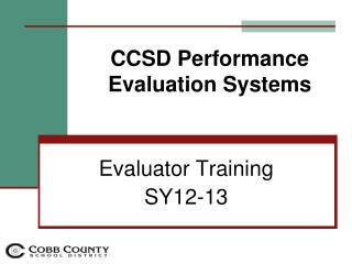 CCSD  Performance Evaluation Systems