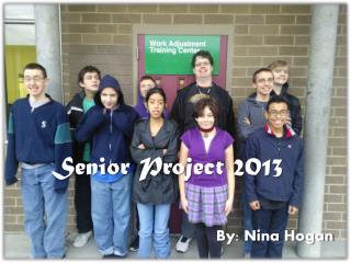 Senior Project 2013