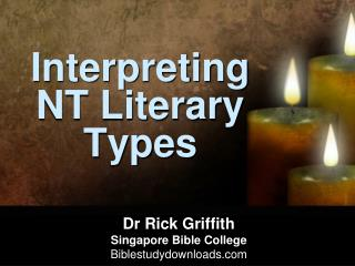 Interpreting NT Literary Types