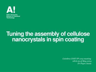 Tuning the assembly of cellulose  nanocrystals  in spin coating
