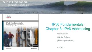 IPv6 Fundamentals Chapter  3 : IPv6 Addressing