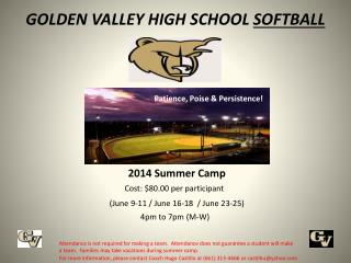GOLDEN VALLEY HIGH SCHOOL  SOFTBALL