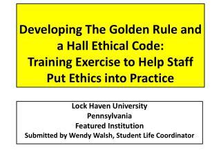 Lock Haven University Pennsylvania Featured Institution