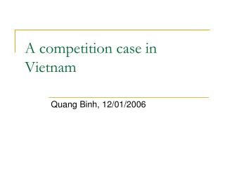 A competition case in Vietnam