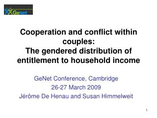 Cooperation and conflict within couples: The gendered distribution of entitlement to household income