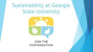 Sustainability at Georgia State University