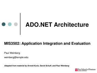 ADO.NET Architecture
