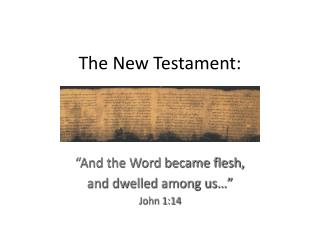 The New Testament: