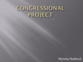 Congressional Project