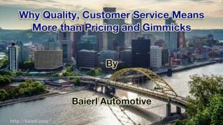 ppt 41972 Why Quality Customer Service Means More than Pricing and Gimmicks