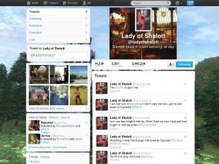 Lady of  Shalott @ ladyofshalott Damsel stuck in tower weaving all day