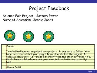 Science Fair Project:  Battery Power