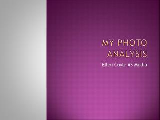My photo analysis
