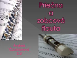Priečna  a  zobcová flauta