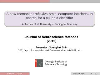 A new (semantic) reflexive brain–computer interface: In search for a  suitable  c lassifier