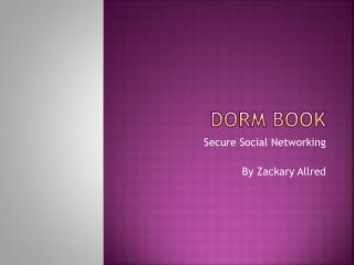 Dorm Book