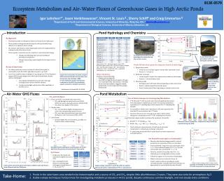 Ecosystem Metabolism and Air-Water Fluxes of Greenhouse Gases in High  Arctic  Ponds