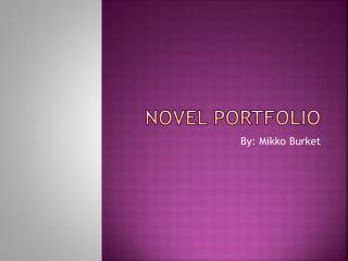 Novel Portfolio