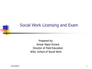 Social Work Licensing and Exam