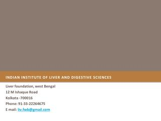 Indian  Institute of Liver and Digestive  Sciences