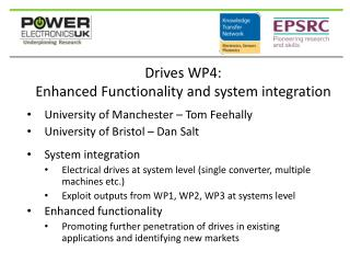 Drives WP4: Enhanced Functionality and system integration