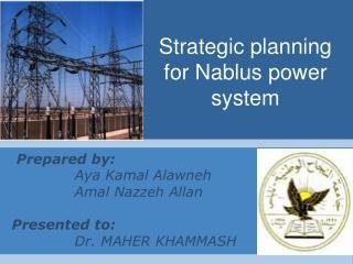 Strategic planning for Nablus power system