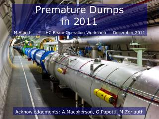 Premature Dumps in 2011